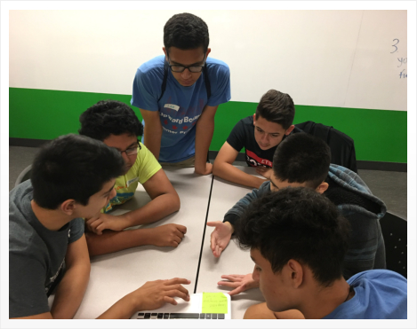 Group of students discussing